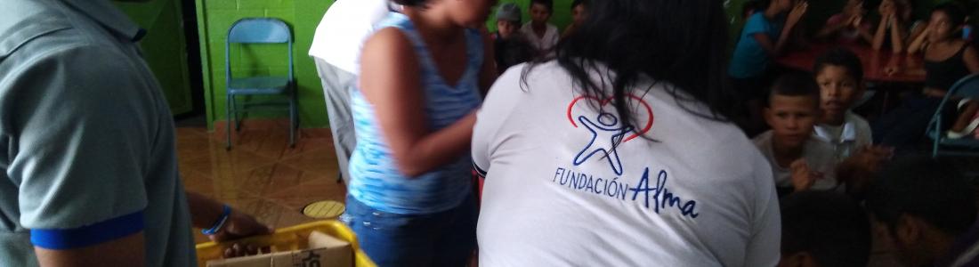Fundación Alma preparó sopa comunitaria para niños de El Viñedo